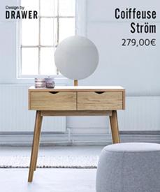 Petite coiffeuse design ström Drawer