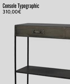 console métal typographic pomax
