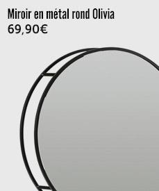 miroir rond Olivia