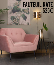 fauteuil velours kate