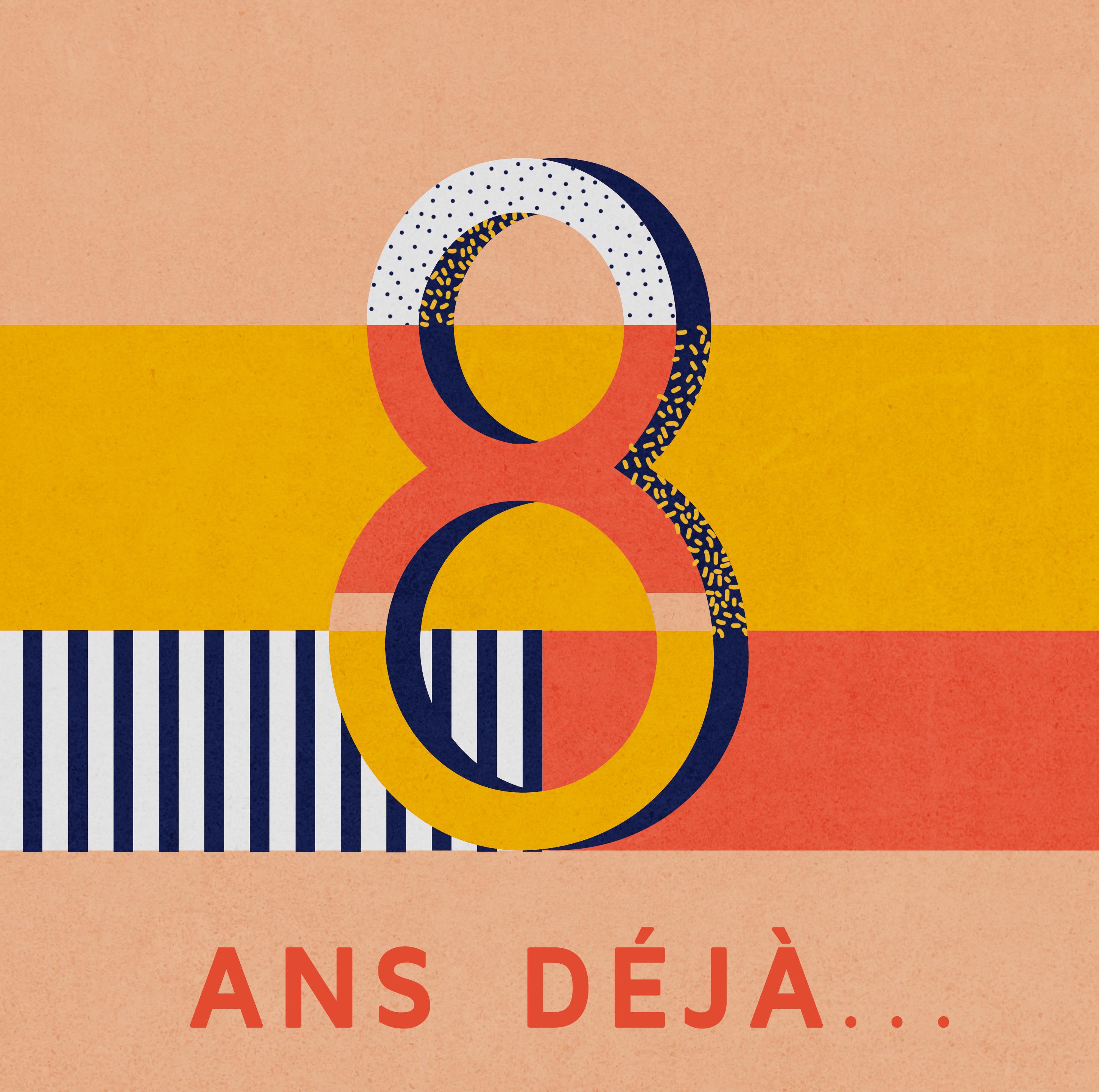 logo 8ans anniversaire Drawer
