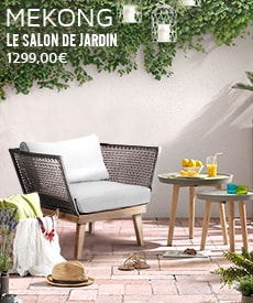 Salon de jardin design Mékong