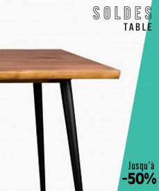 Soldes 2018 tables design