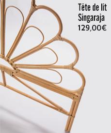 tête de lit rotin singaraja