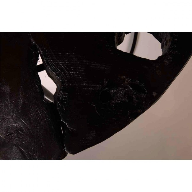 Table basse ronde Teck et métal Kraton by Dutchbone