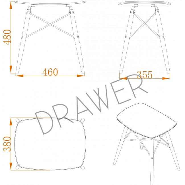 Tabouret design Skoll