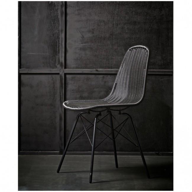 2x chaise en rotin tressé Clarice