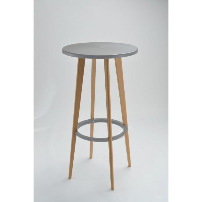 Table haute ronde blanche et gris design Harry's