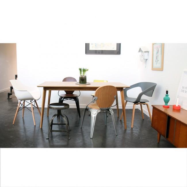 Table scandinave en bois 160x80cm Skoll