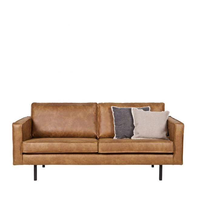Canapé 3 places vintage en éco-cuir Bronco