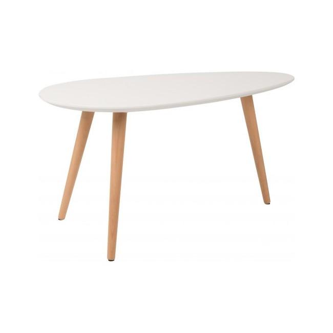 Lot de 2 tables d'appoint lacquées blanches Drop