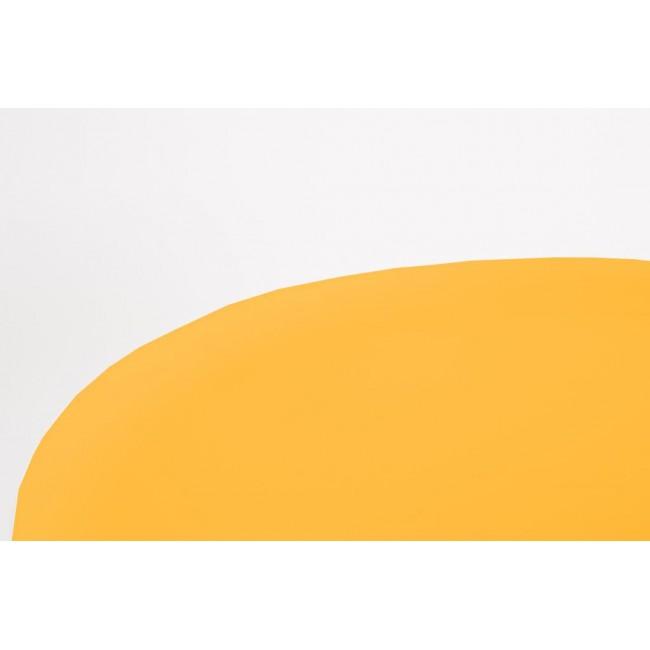 Table d'appoint en métal laqué jaune Frost
