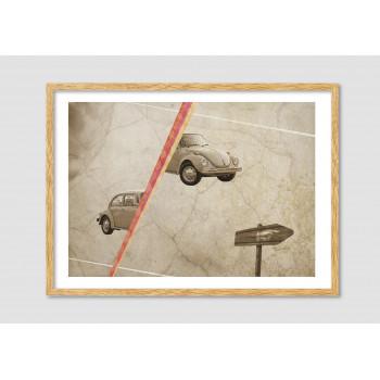 "Collage vintage ""The vintage race"""