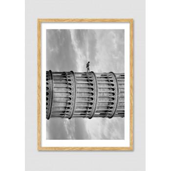 """Photomontage noir et blanc Tour de pise """"The climb"""""""