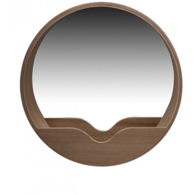 Miroir en bois Round Wall Wall Zuiver par Drawer