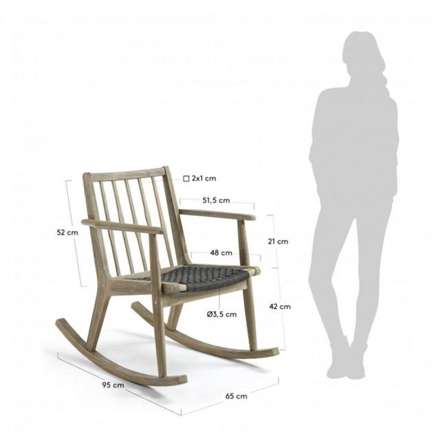 Rocking chair en bois indoor/outdoor Milena