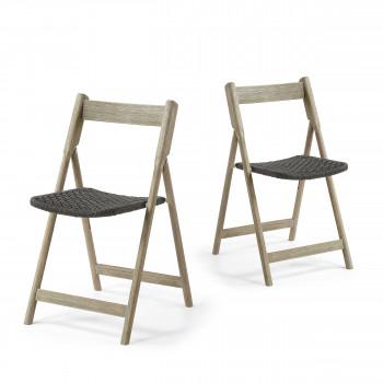 Lot de 2 chaises en bois indoor/outdoor Rowing