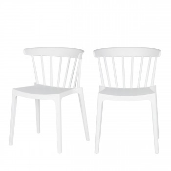Lot de 2 chaises d'extérieur contemporaines Bliss