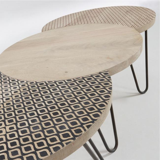 Set de 3 tables basses modulables Houp