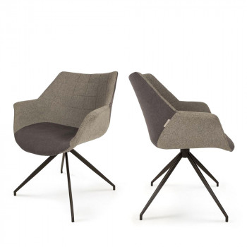 Lot de 2 fauteuils design Doulton gris