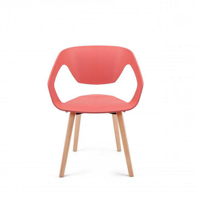 Lot de 2 chaises design scandinave Danwood  rouge terra-cotta
