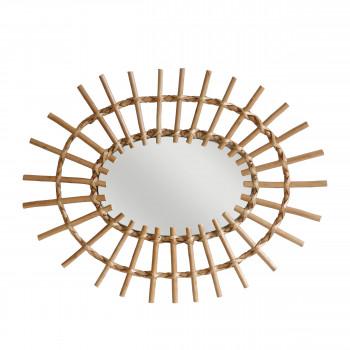 Miroir ovale rotin Jackie