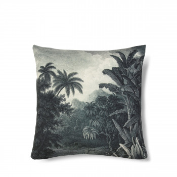Coussin imprimé jungle Bay