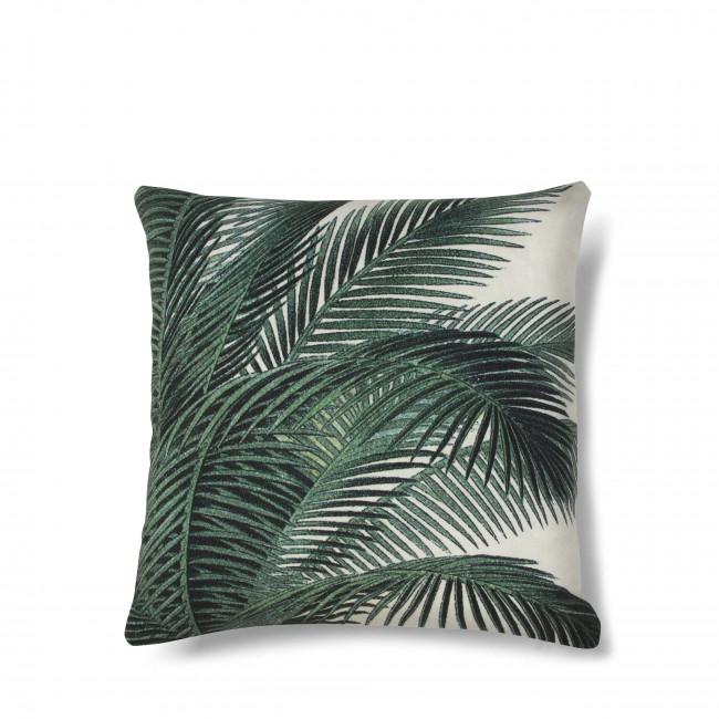 Coussin imprimé palmier Baki