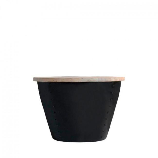 Table d'appoint bois et métal M Indi Label 51 Noir
