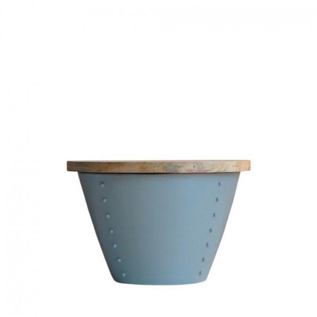 Table d'appoint bois et métal M Indi Label 51 Gris