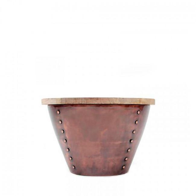 Table d'appoint bois et métal M Indi Label 51 Cuivre