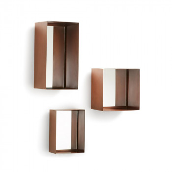 Set 3 miroirs rectangulaires cuivre Clifden