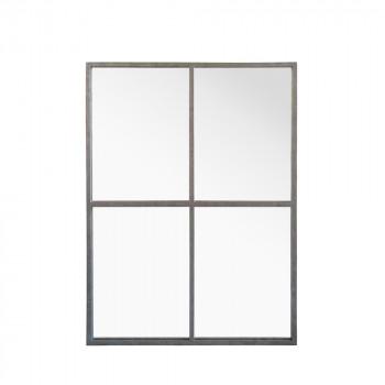 Miroir fenêtre style industriel 90x120 Marcel