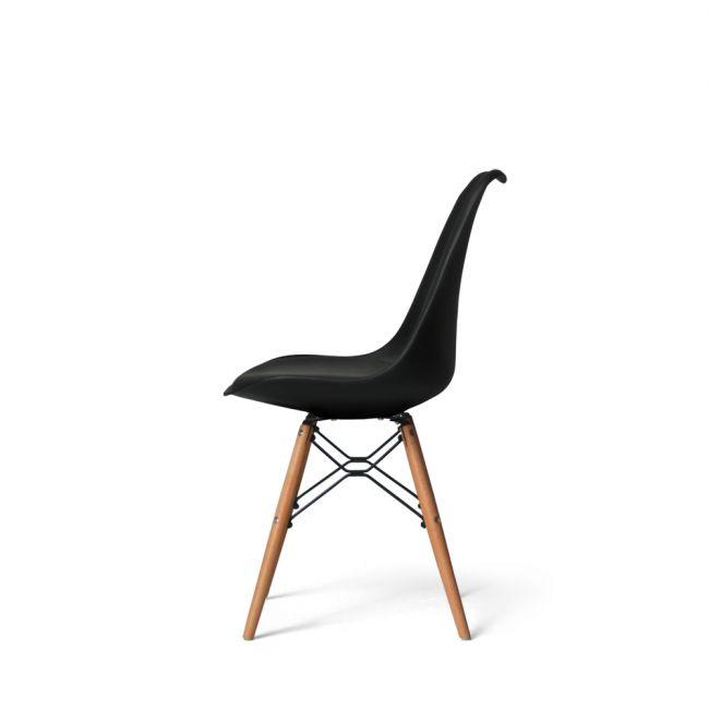 Lot de 2 chaises design metal et bois Dogewood
