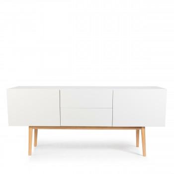 Buffet design 2 portes 2 tiroirs scandinave High Wood