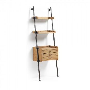 Etagère vintage en bois de sapin deux tiroirs inclinable Emile