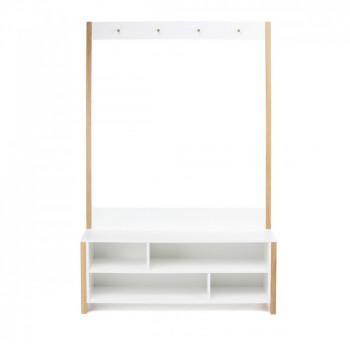 Meuble d'entrée design bois et blanc Northgate