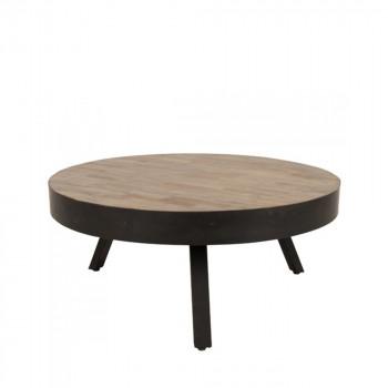 Table basse ronde Ø74 cm en teck recyclé Suri Large