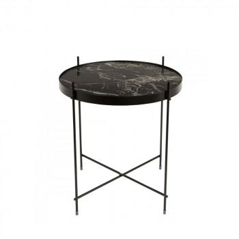 Table basse design ronde Cupid marbre