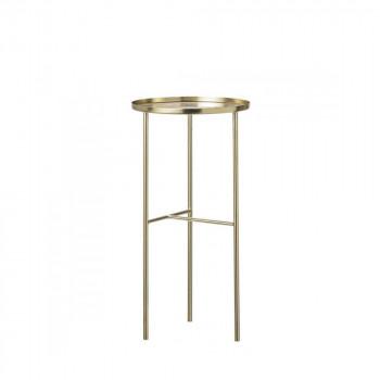 Table d'appoint haute finition laiton Ø30 Pretty
