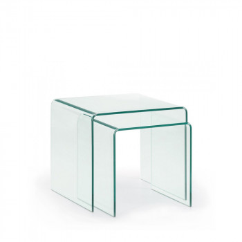 Tables basses gigognes en verre Burano