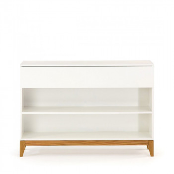 Console design scandinave 2 niches Blanco
