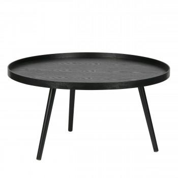 Table d'appoint ronde bois XL Mesa noir