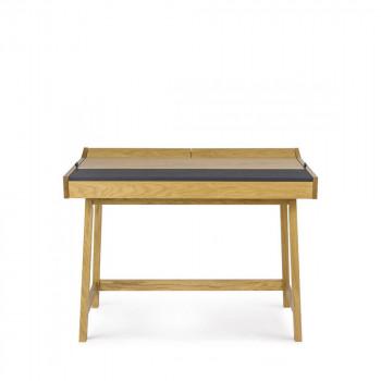 Bureau vintage chêne et cuir Brompton