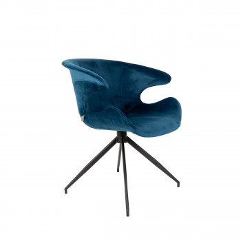 Lot de 2 fauteuils velours design Mia Zuiver