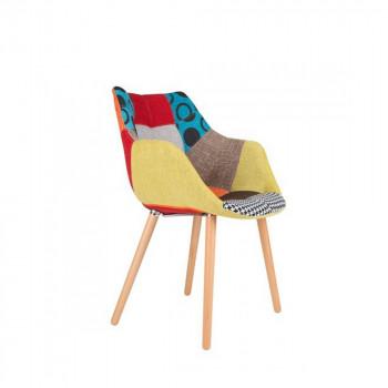 Chaise multicolore Twelve Patchwork de Zuiver