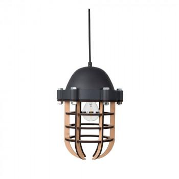 Luminaire suspension métal et bois Navigator Zuiver Noir