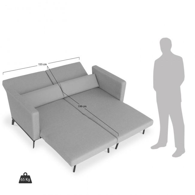 Canapé convertible design Harvey gris vue de face