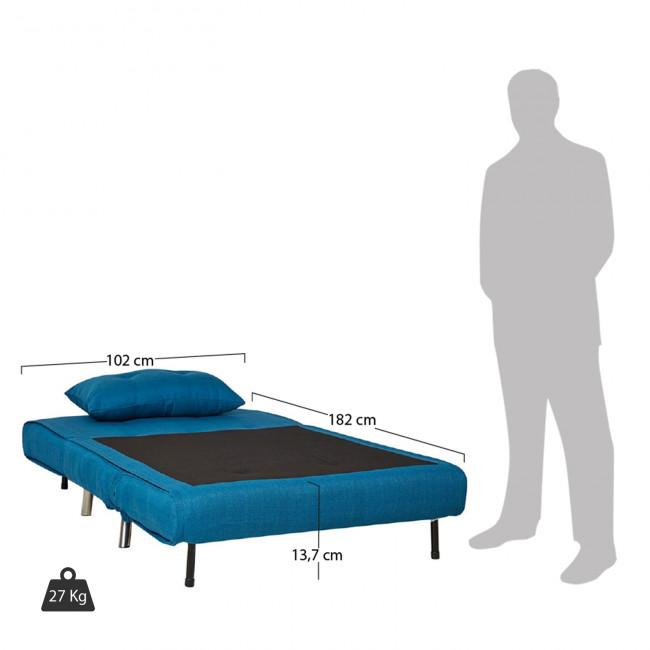 Canapé convertible design compact tissu bleu Murphy