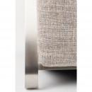 Fauteuil lounge tissu & inox Adwin Zuiver Gris clair